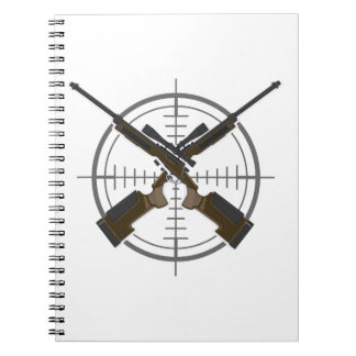 Crosshairs sniper rifle hunting notebook