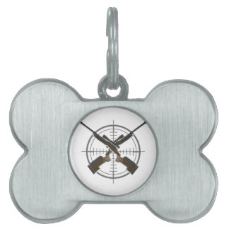 Crosshairs sniper rifle hunting pet ID tag