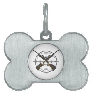 Crosshairs sniper rifle hunting pet tag