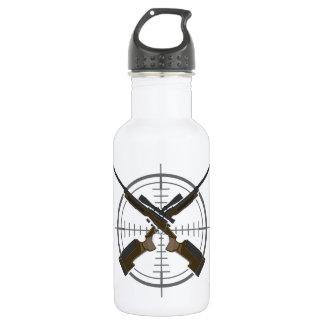 Crosshairs sniper rifle hunting stainless steel water bottle