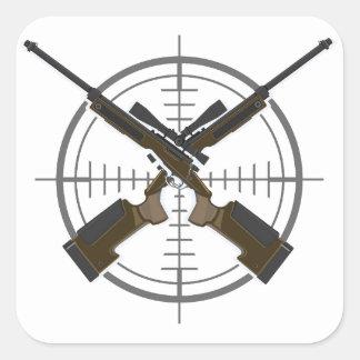 Crosshairs sniper rifle hunting sticker