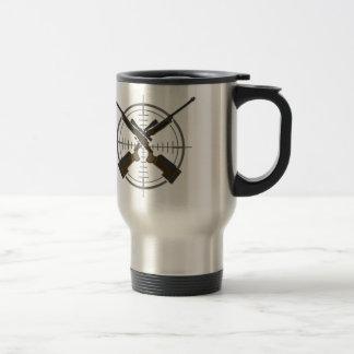 Crosshairs sniper rifle hunting travel mug