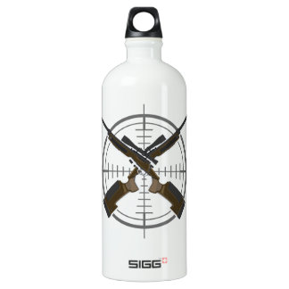 Crosshairs sniper rifle hunting water bottle