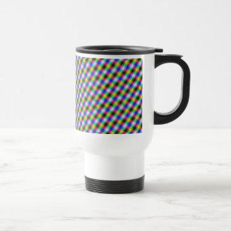 Crosshatch in Neon Travel Mug