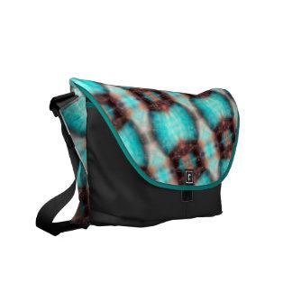 Crosshatch Pattern Messenger Bag