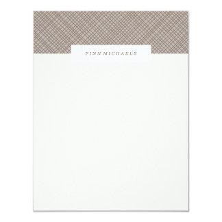 Crosshatch Stationery - Chocolate Card