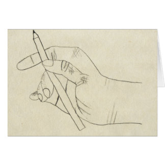 Crosshatched Hand card
