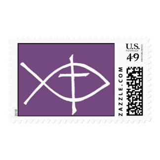 crossicthuspurple postage stamp