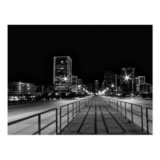 Crossing 9th Street Bridge at Night Postcard