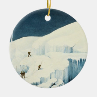 Crossing a Ravine, from 'A Narrative of an Ascent Ceramic Ornament
