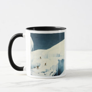 Crossing a Ravine, from 'A Narrative of an Ascent Mug