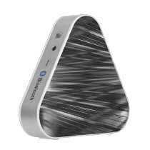 Crossing black and white lines pattern bluetooth speaker