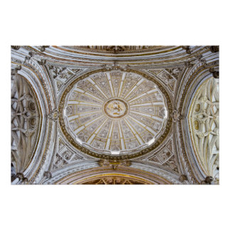 Crossing Dome Ceiling of the Cathedral Transept Poster