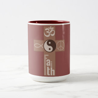 Crossing Faith Two-Tone Coffee Mug