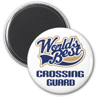 Crossing Guard Gift (Worlds Best) 2 Inch Round Magnet