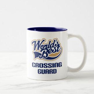 Crossing Guard Gift (Worlds Best) Two-Tone Coffee Mug