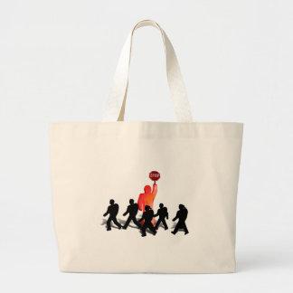 Crossing Guard & Kids Large Tote Bag