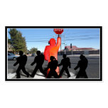 Crossing Guard w/Kids on the Street Double-Sided Standard Business Cards (Pack Of 100)