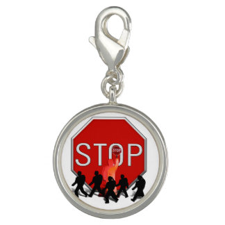 Crossing Guard w/Kids & Stop Sign Charms