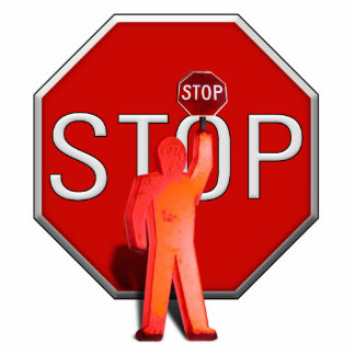 Crossing Guard with Stop Sign Cutout
