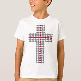 Crossing Hearts Cross T-Shirt