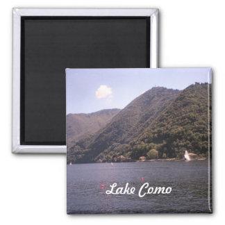 Crossing Lake Como 2 Inch Square Magnet