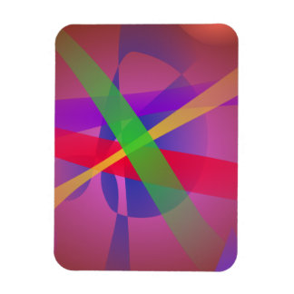 Crossing Lines Brown Abstract Art Flexible Magnet