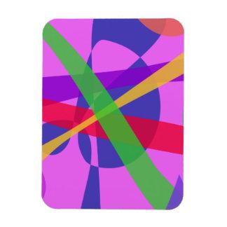 Crossing Lines Primitive Abstract Art Flexible Magnet