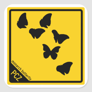 Crossing: Monarch Butterflies Square Sticker
