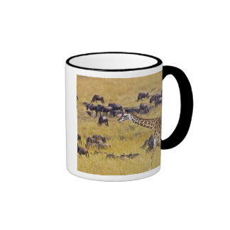 Crossing of the Mara River by Giraffes and Ringer Mug