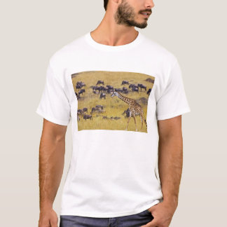 Crossing of the Mara River by Giraffes and T-Shirt