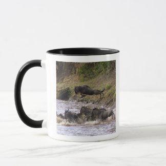 Crossing of the Mara River by Zebras and Mug