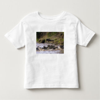 Crossing of the Mara River by Zebras and Toddler T-shirt