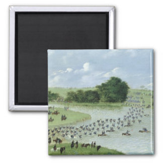 Crossing of the San Joaquin River, Paraguay, 1865 Refrigerator Magnet