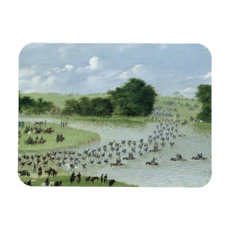 Crossing of the San Joaquin River, Paraguay, 1865 Rectangle Magnet