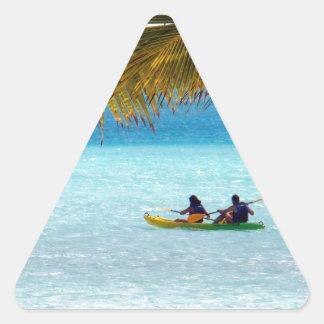 Crossing paradise triangle sticker