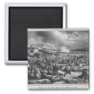 Crossing the Berezina 2 Inch Square Magnet