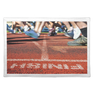 Crossing the Finish Line - Accomplishment or Runne Cloth Placemat