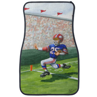 Crossing the Goal Line for a Touchdown Car Mat