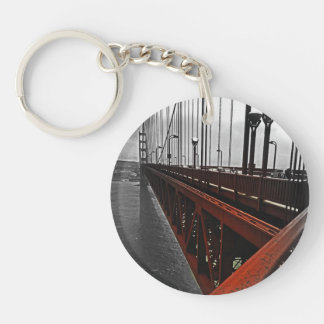 Crossing the Golden Gate Double-Sided Round Acrylic Keychain