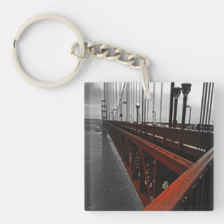 Crossing the Golden Gate Square Acrylic Keychain
