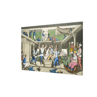 Crossing the Line, plate from 'The Adventures of J Canvas Print