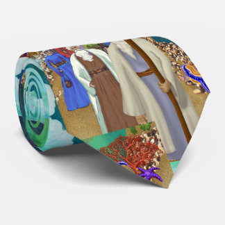 Crossing the Red Sea Bible Story Collage Tie