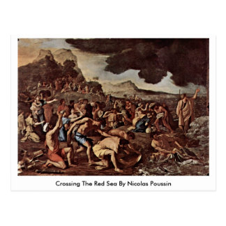 Crossing The Red Sea By Nicolas Poussin Postcard