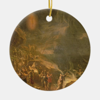 Crossing the Red Sea Double-Sided Ceramic Round Christmas Ornament