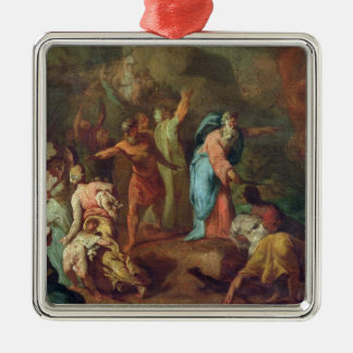 Crossing the Red Sea Square Metal Christmas Ornament