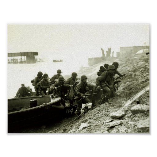 Crossing the Rhine Poster