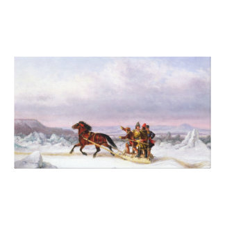 Crossing the St. Lawrence Canvas Print