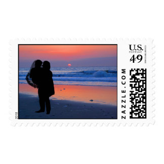 Crossing the Threshold of Life as a Married Couple Postage Stamp