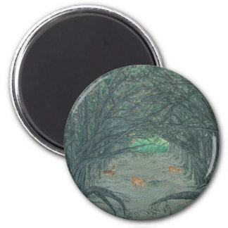 Crossing to the Other Side 2 Inch Round Magnet